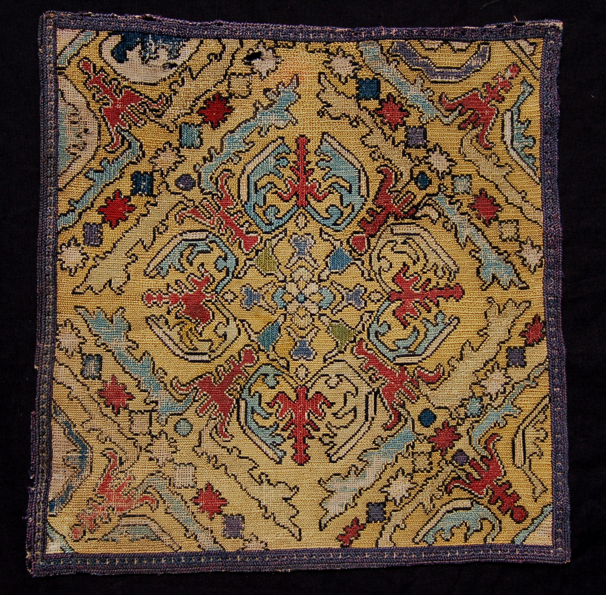 Chefchouen needlepoint embroidered square