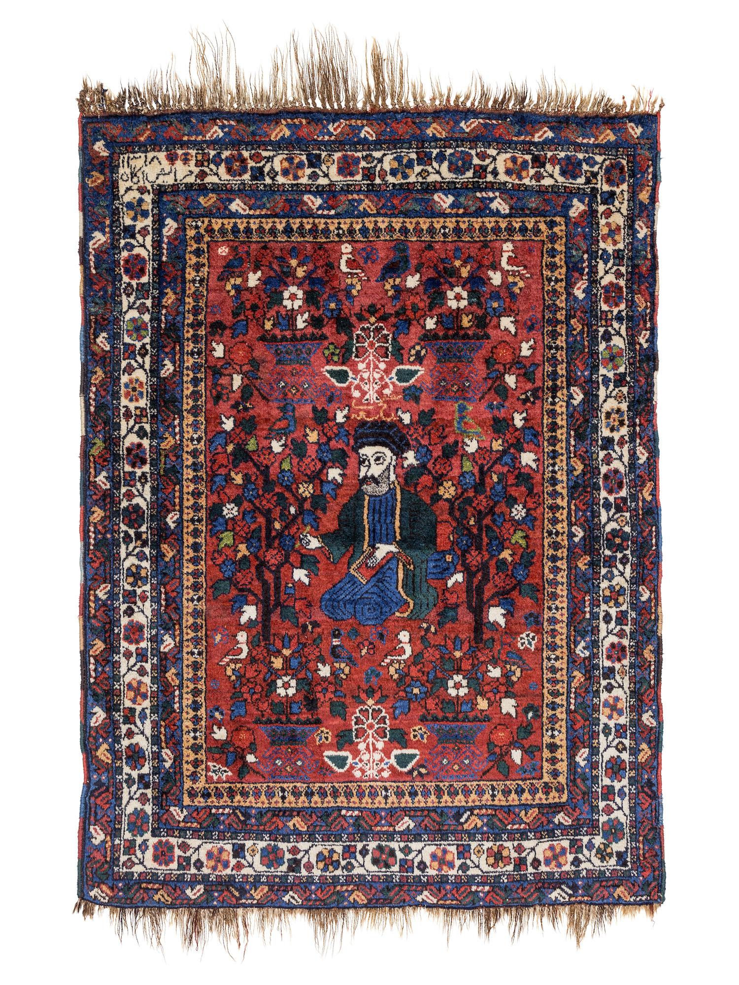 Khamseh pictorial rug