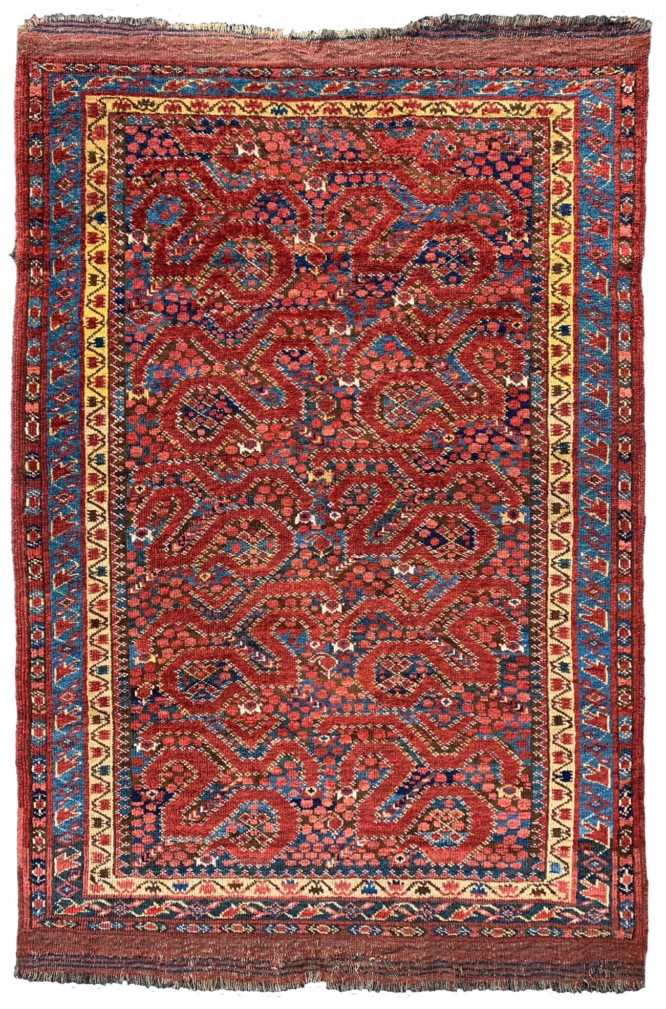 Central Asian Beshir cloudband rug