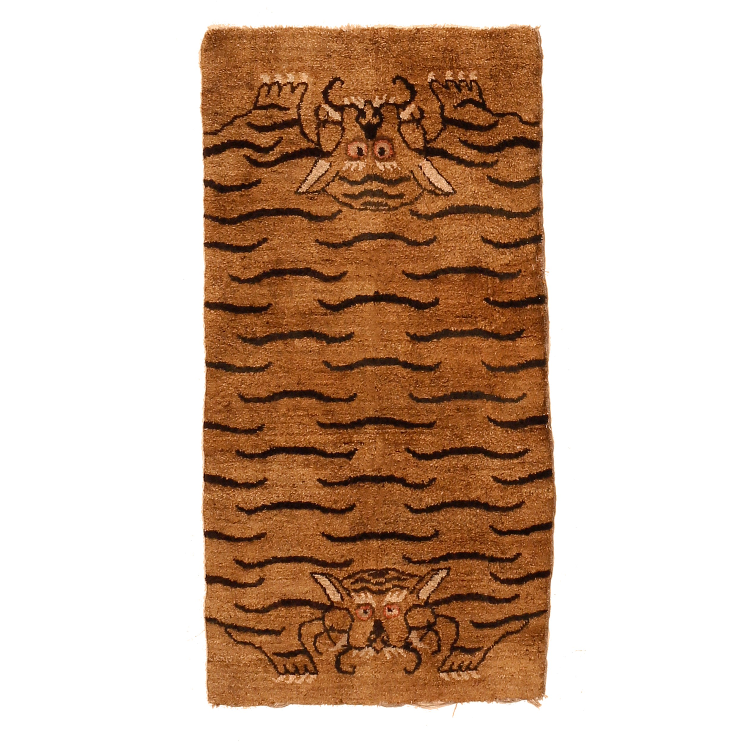 Tiger pelt Tantric rug