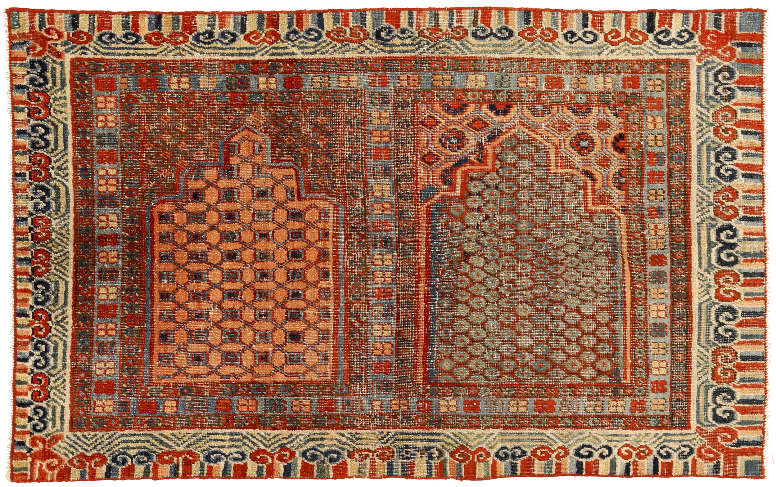 Rug with two niches