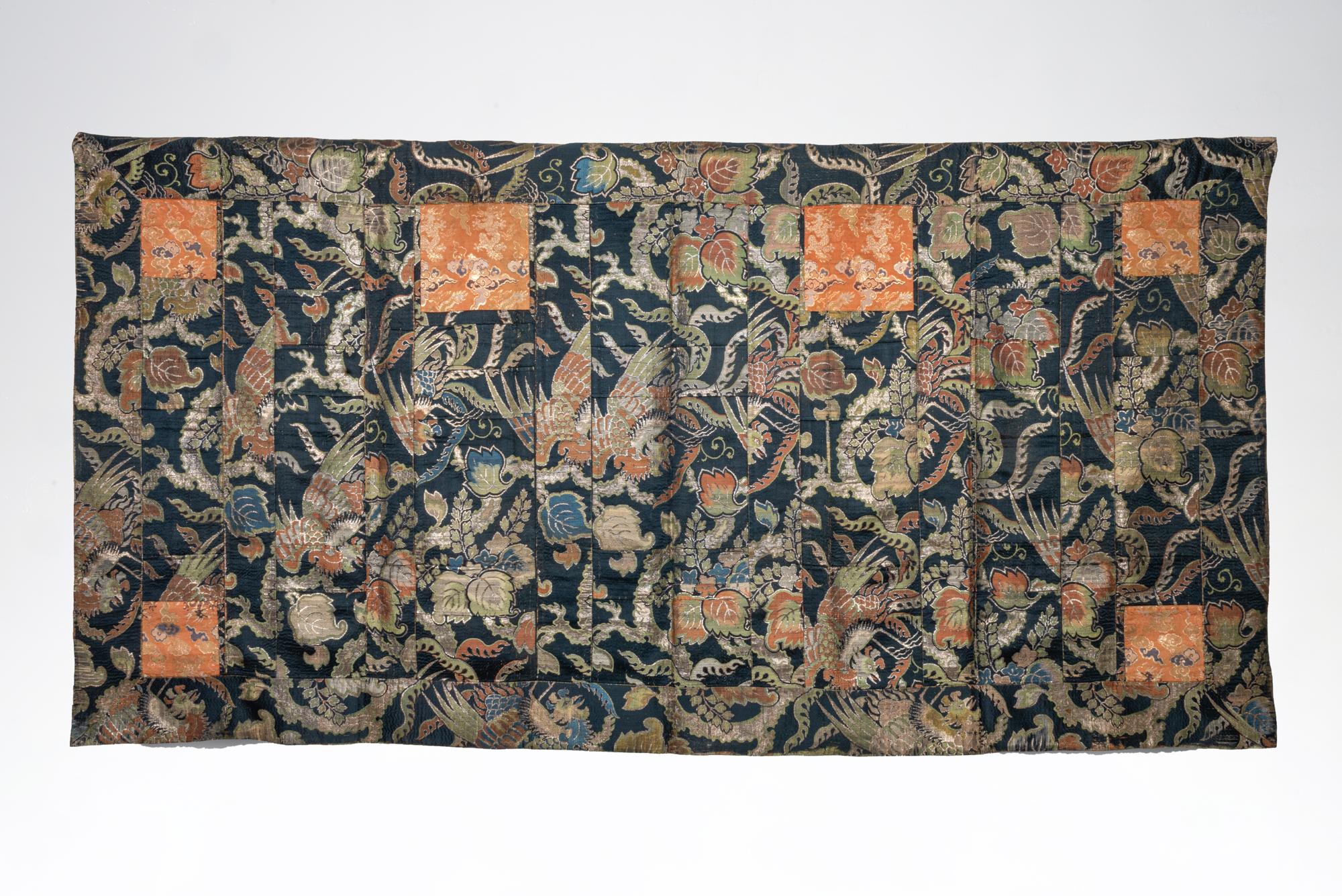 Patchwork silk Kesa (monk's mantle)