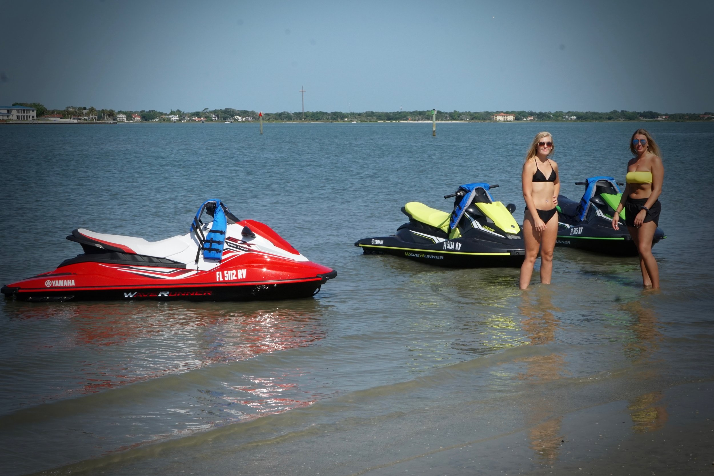 7 Days a week 9AM-5pm - Excursions starting at 1 hourUp to 2 persons per Wave Runner$120 per jet skiAsk about extended or customized excursions