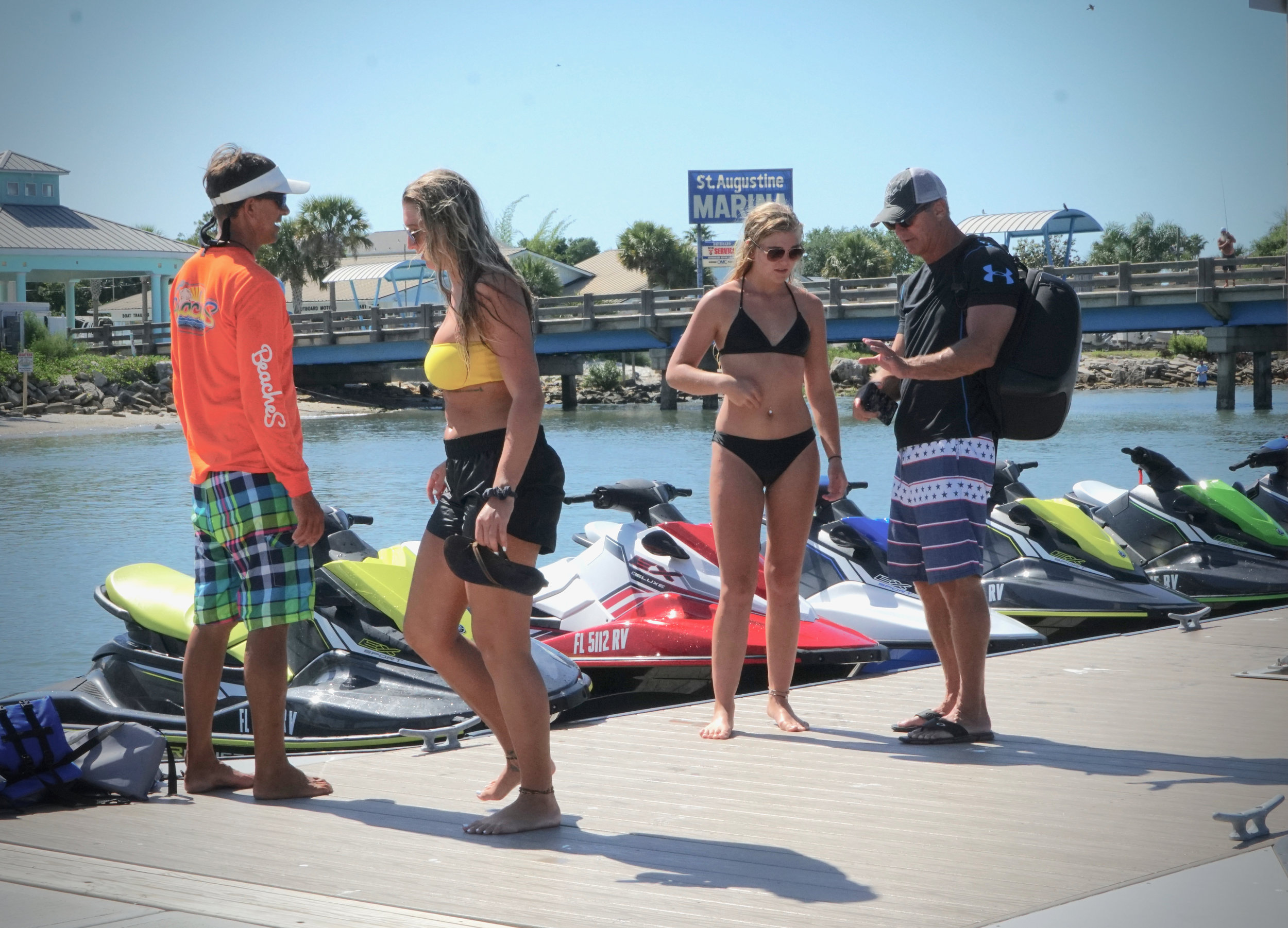 We feature quiet and responsive Yamaha jet skis