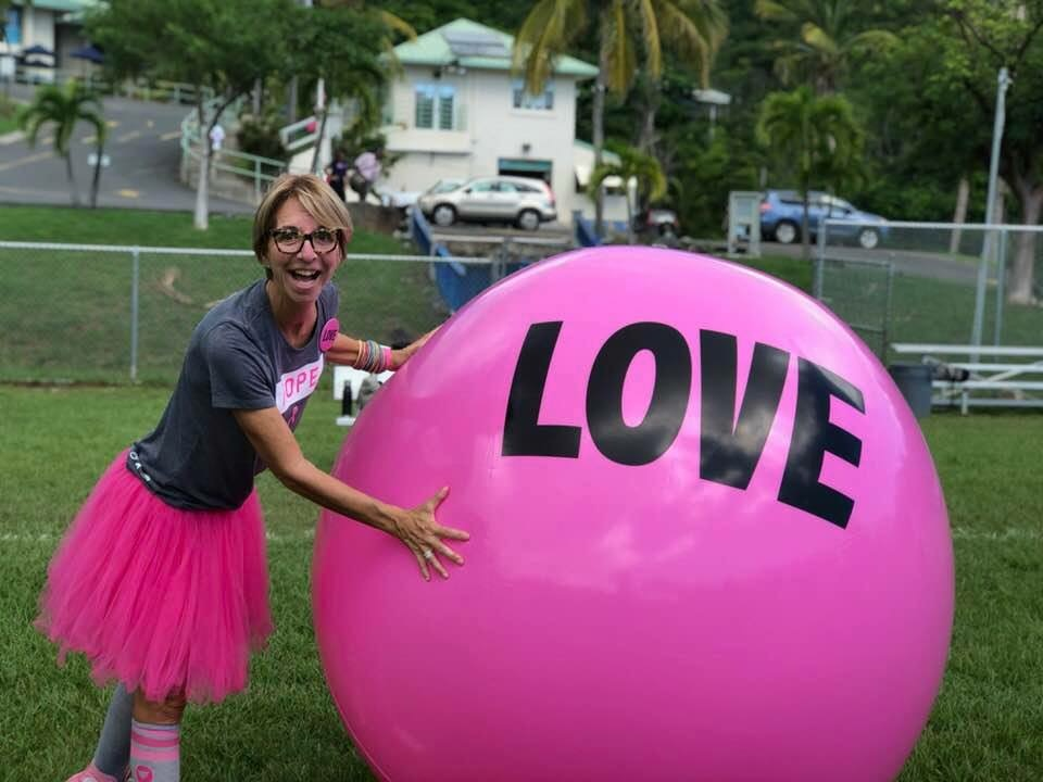 Barb with love ball.JPG
