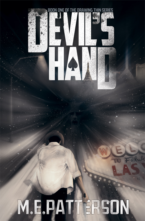 Devil's Hand(Drawing Thin #1) - A Las Vegas poker ace with supernatural luck is swept into a world-ending conflict between fallen angels and otherworldly shades, in a thrilling debut novel for readers who enjoy Dean Koontz, Jim Butcher, and Tim Powers.The lone survivor of a tragic plane crash, Trent Hawkins inherited a mysterious lucky streak that made him famous, and hated, in the poker circles of the City of Sin. It wasn't long before the eyes in the sky threw him on the blacklist and chased him out of town. Now, after years away, Trent returns to Las Vegas, and walks right back into trouble.As a serial kidnapper terrorizes the city, Trent and his wife, Susan, rescue a strange, thirteen year-old girl, only to find themselves caught in a fallen angel's plot to cleanse Las Vegas with an unholy blizzard.The neon begins to dim, the city freezes, and Trent is forced to make terrible sacrifices in order to protect his new charge, and learns dark truths about himself and the creatures plotting against mankind. Poker-playing demons, fallen angels, and otherworldly shades all vie to enlist his strange luck, and Trent must choose his role in the coming War, or watch our world fall to ruin beneath a blanket of shadow and ice.