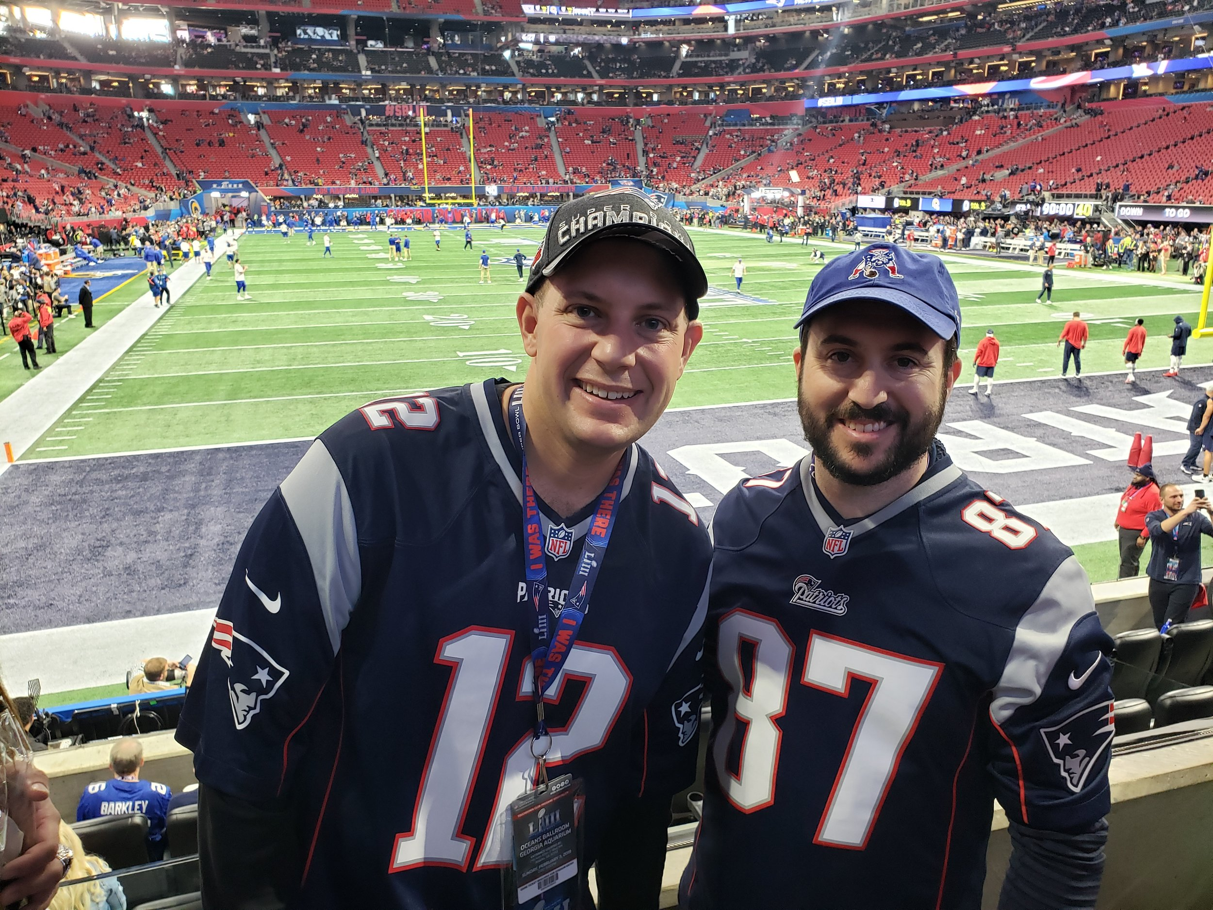 goin' to the ship - Lee Schneider (Boston, MA) & Brian Singer (Needham, MA)The only thing better than seeing the Patriots win another Super Bowl might be winning the Barstool Classic.