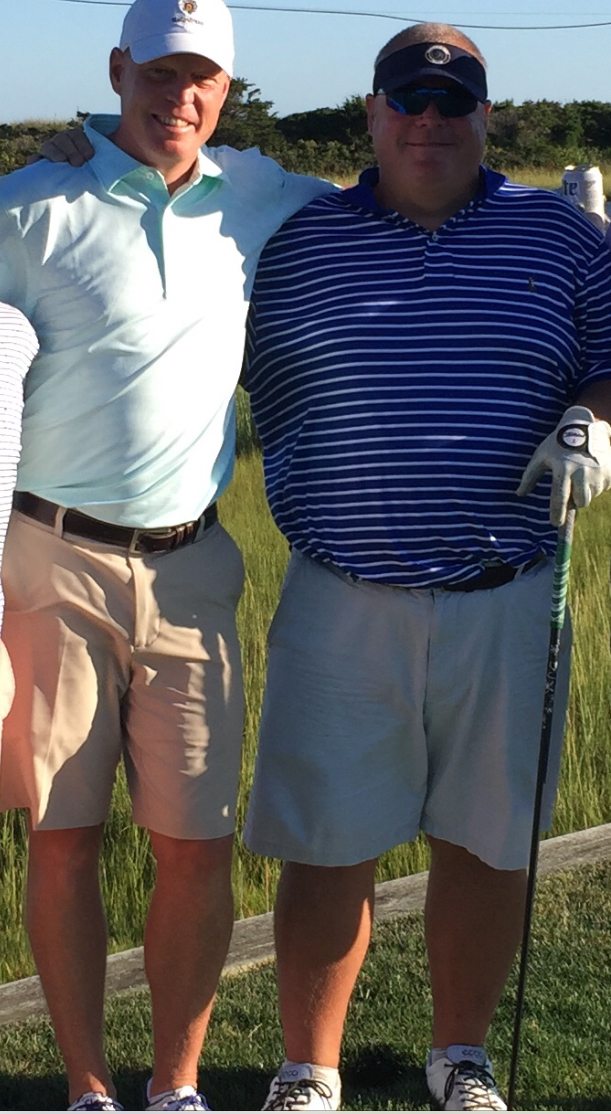 "Say Chowda - Gary Giffen (Acton, MA) & Sean Maher (Hingham, MA)One played NCAA D1 golf the other set records in NCAA division 1 track. You try and figure out which did which. Both Huskies (NU & UConn) both financial services ""professionals"" with PhDs in client golf."