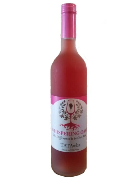 TATAwba - $15.00 - *Limited Quantity* Catawba with a splash of Chambourcin.  Specially blended and labeled for Breast Cancer Awareness.  Portion of proceeds will be donated to PA Breast Cancer Coalition.