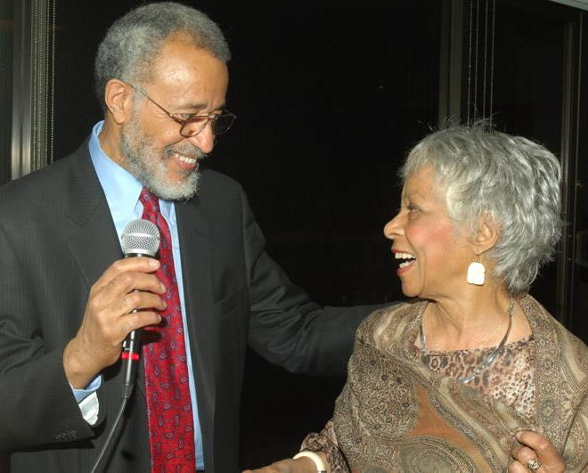 Dwyer CC Founder Cliff Frazier with Ruby Dee