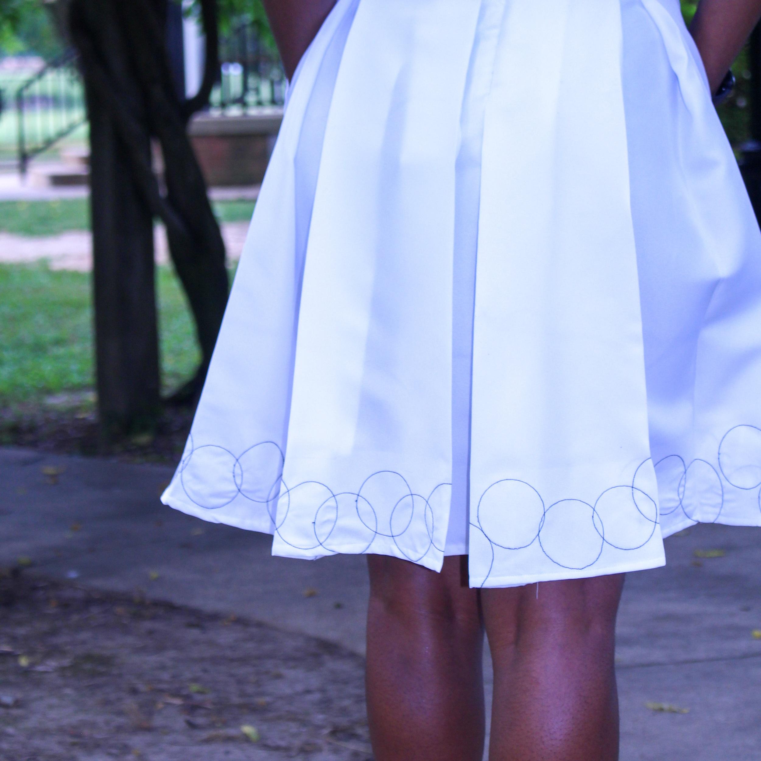 Garments & Rulerwork: Embellished Skirt - by Jhasmine andrews