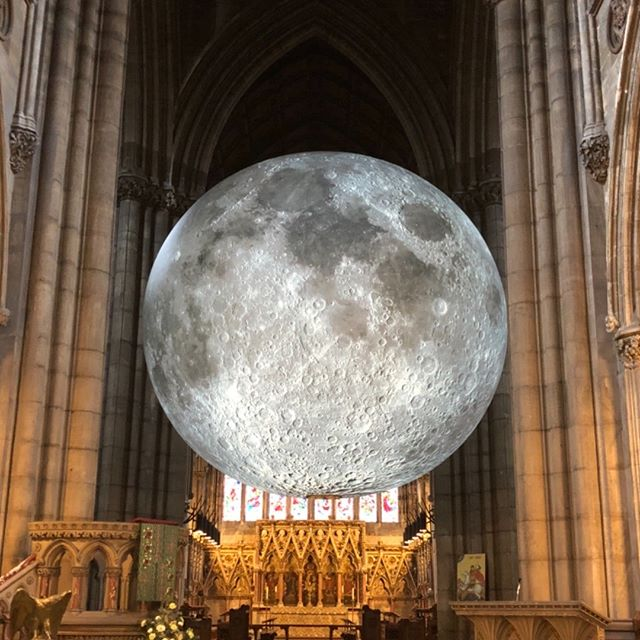 Museum of the Moon is here! In Doncaster Minster!! Photo's do not do it justice! You can drop in all week (open times on our website) 😃🌓