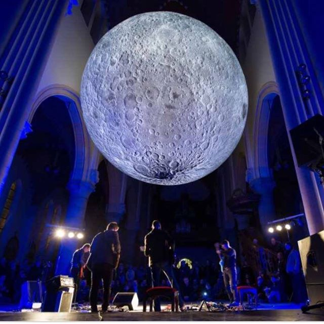 Not long now til we have Luke Jerram's amazing Museum of the Moon at Doncaster Minster!! Free to drop in from Sat 17th - Sat 24th - check our website for times #themoonthemoon #withoutwalls #DNLightNight