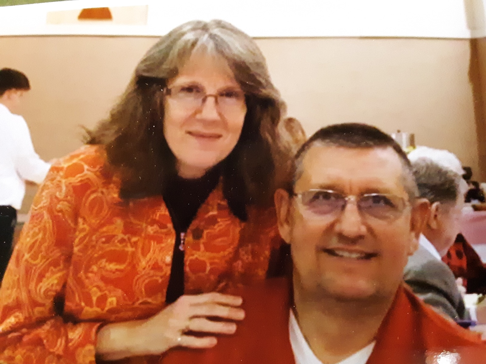 secretary - Joy CagleJoy became church secretary in 2002, prior to that time she served as the church custodian and bookkeeper. Joy also spent many years teaching Sunday School, Children's Church, played with babies in the nursery, and served on a variety of ministries.Joy is pictured here with her husband Don. They were married in 1980, moved to Sherwood and started attending FCC in 1986. Joy and Don have three sons, Justin, Derrick and Nicholas, all three boys were raised attending FCC Sherwood and were active in worship, Sunday school, acolytes, youth, missions and other great activities the church had to offer.