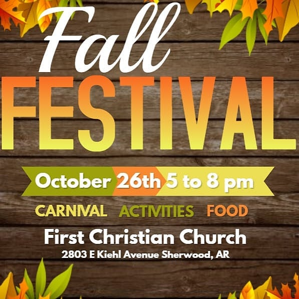 Only 20 days away! Bring your kids, grandkids, neighbors, brothers, sisters, moms, dads, aunts, uncles, and anyone else who enjoys good friends and fun! We start at 5 PM and look forward to seeing you there!  #fallfest #fccsherwood #church #sherwoodarkansas