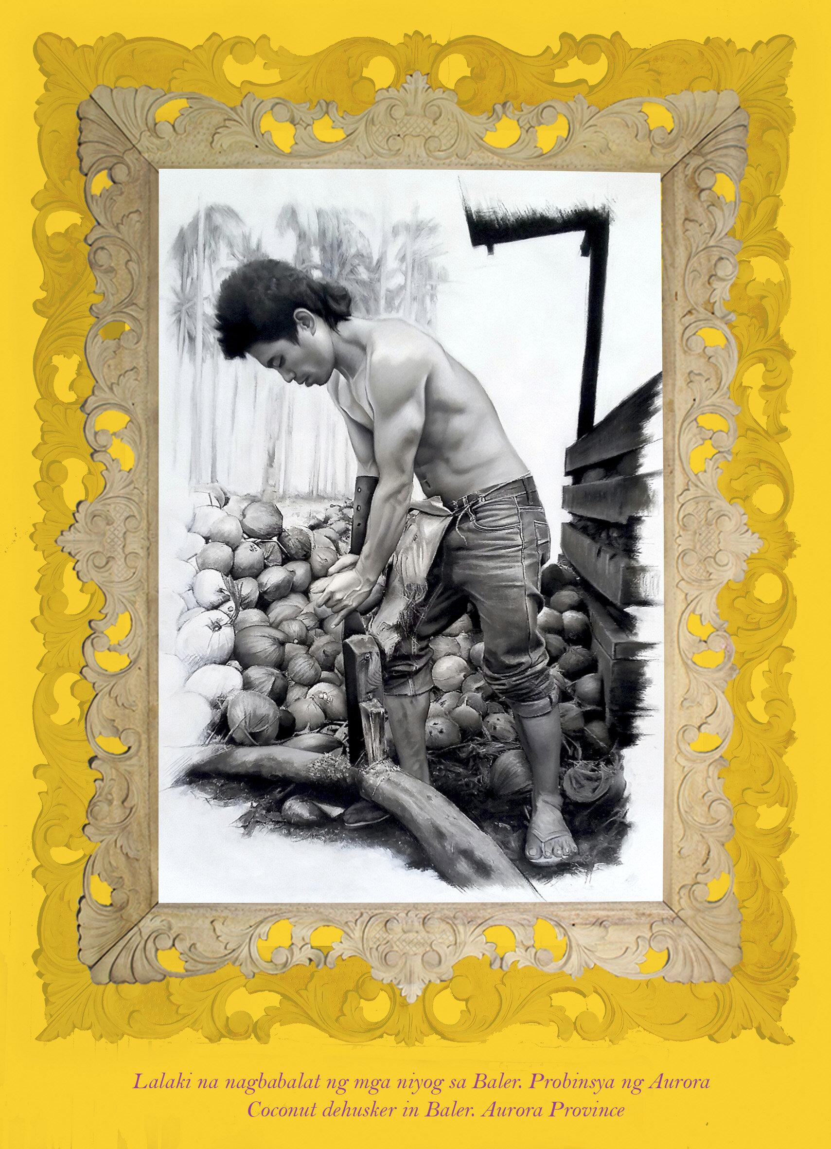 Coconut dehusker in Baler. Aurora Province. Artist Maria Mari Murga.jpg