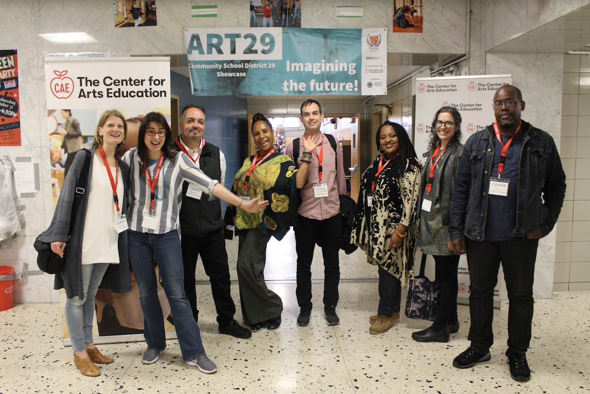 CAE's Collaborative Teaching Artists at ART29: Imagining the Future, Community School District 29's Showcase on May 5, 2019.