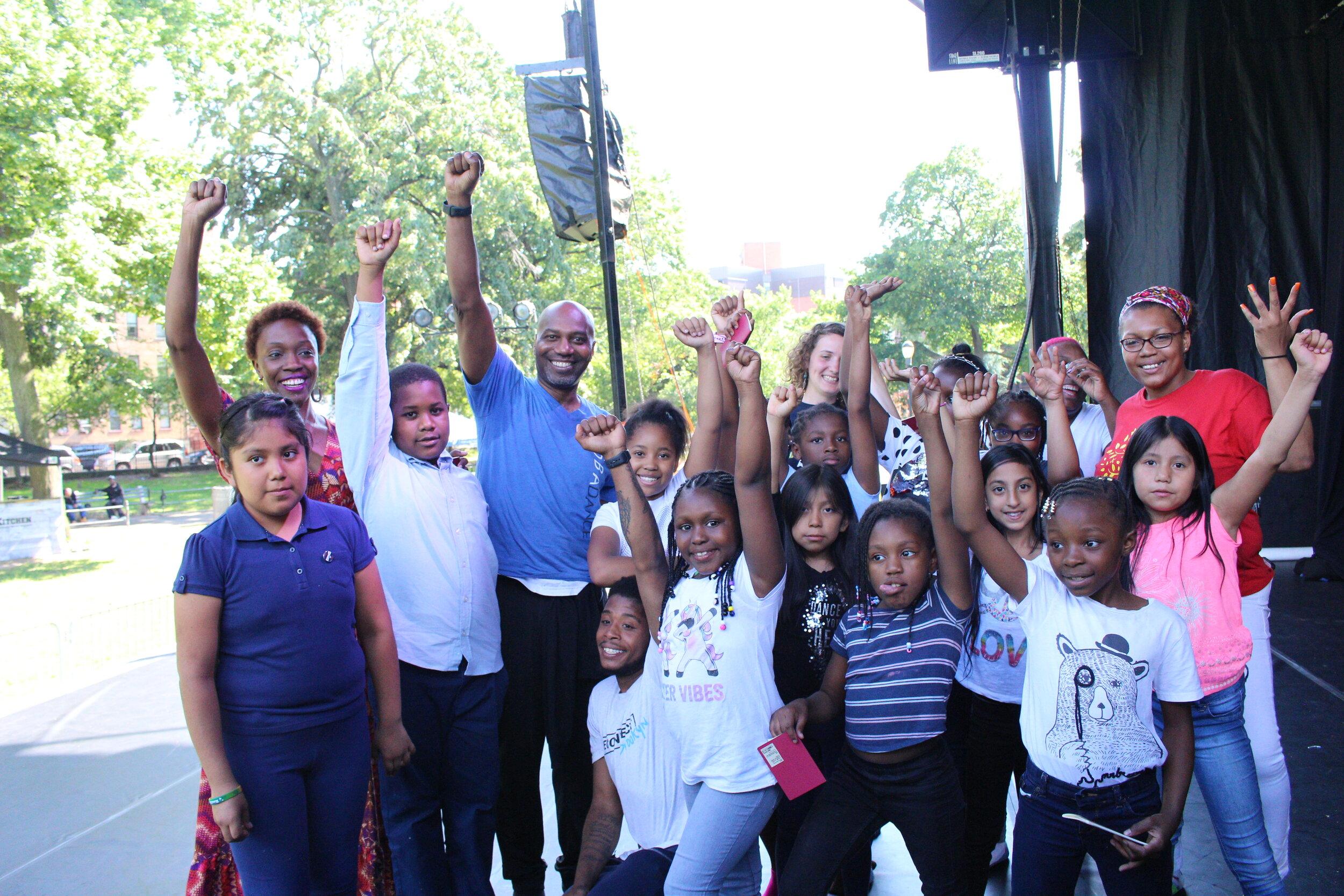 We kicked off the season in Brooklyn's Herbert Von King Park.