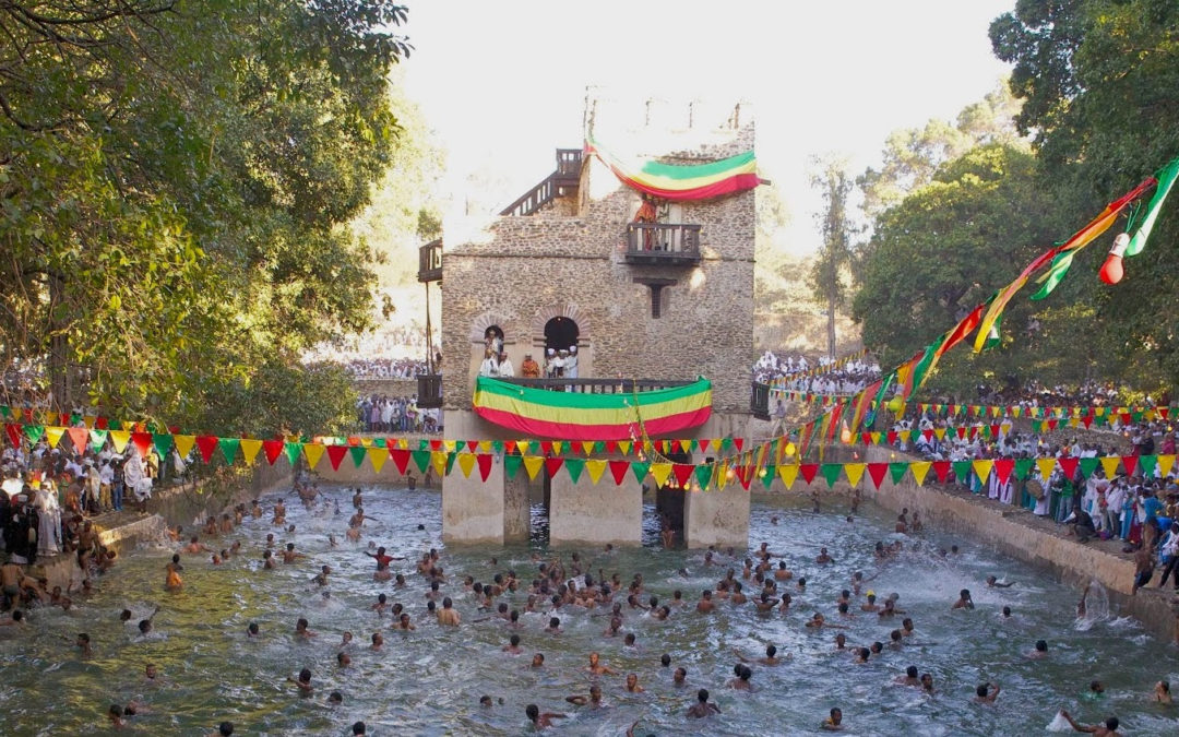 Timkat celebration in Gondar, Ethiopia (2014)