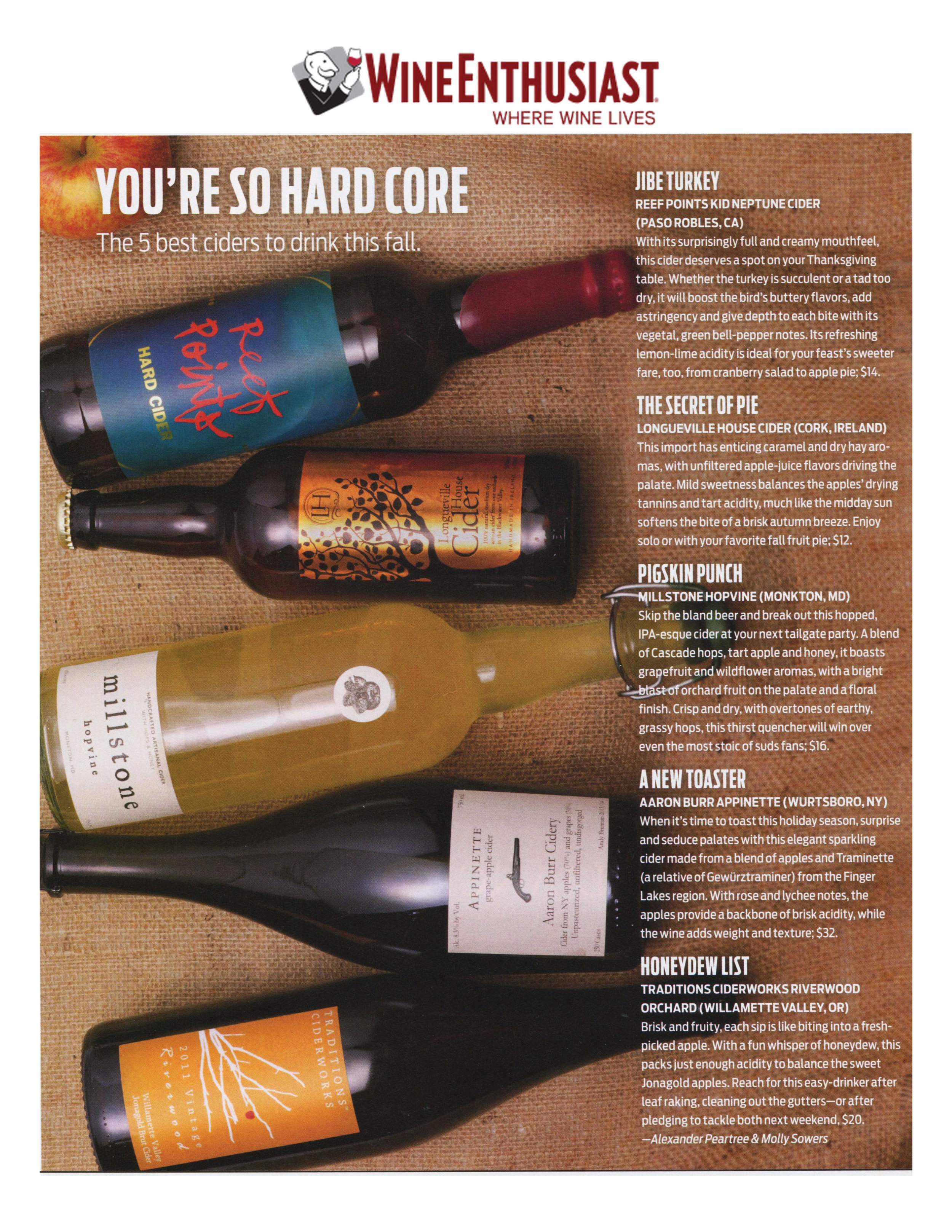 Wine Enthusiast 5 Ciders for Fall November 2014.jpg