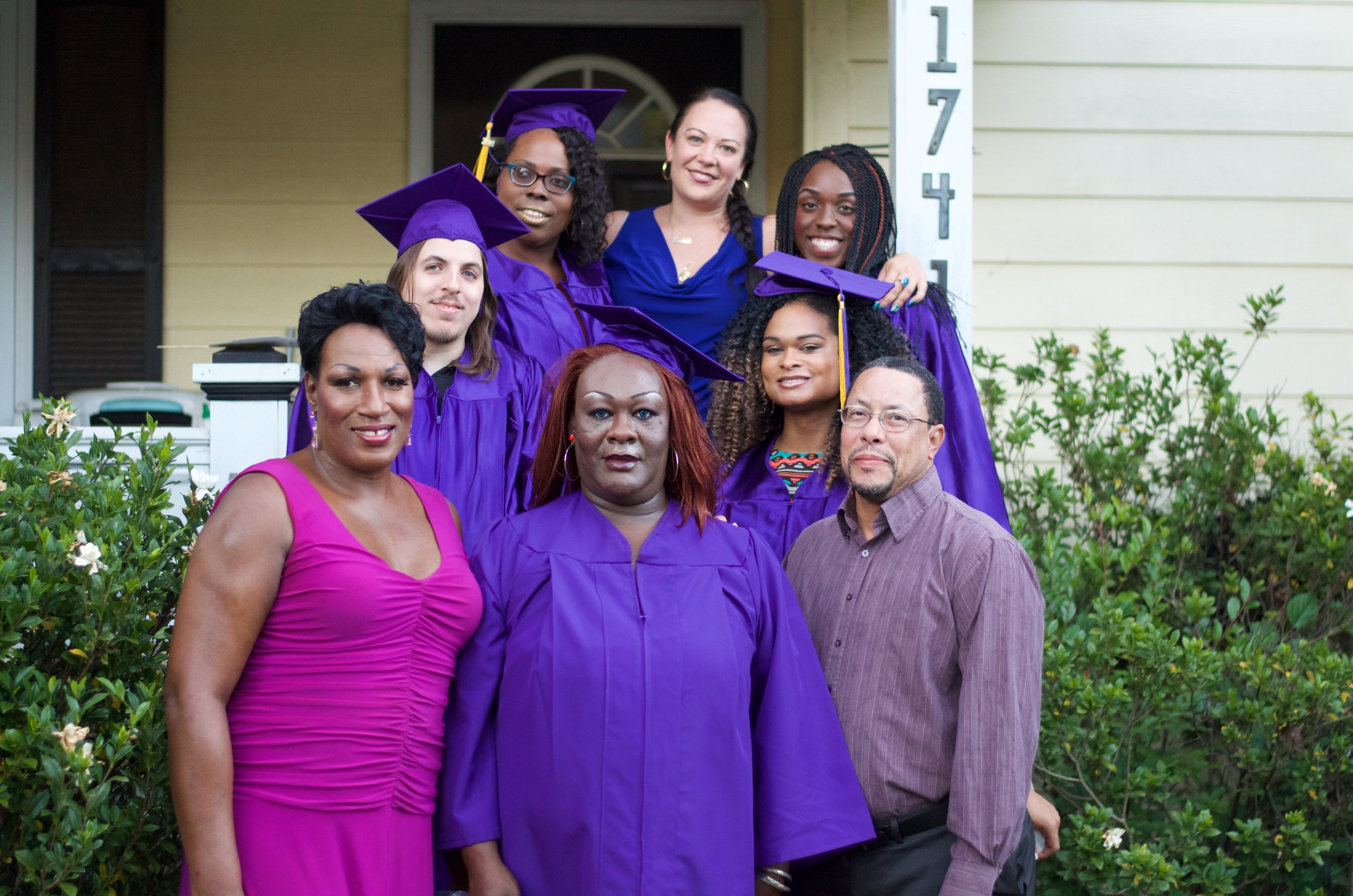 2015 Cohort: DJ, Raquel Willis, Miss Lynn Morrison, Necaela Penn, and TK Hotep (not pictured)