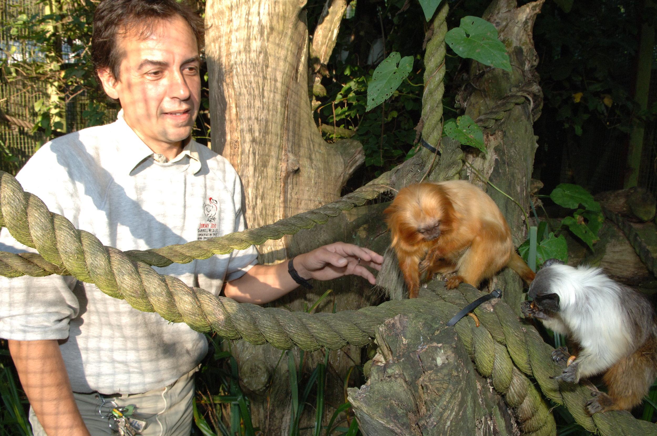 Jersey Zoo staff Dom Wormell.JPG