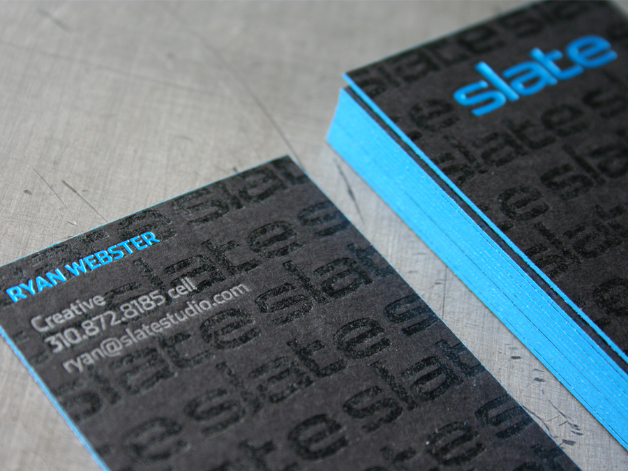 0002_Slate_studio_letterpress_black_card_blue_edge_color.jpg