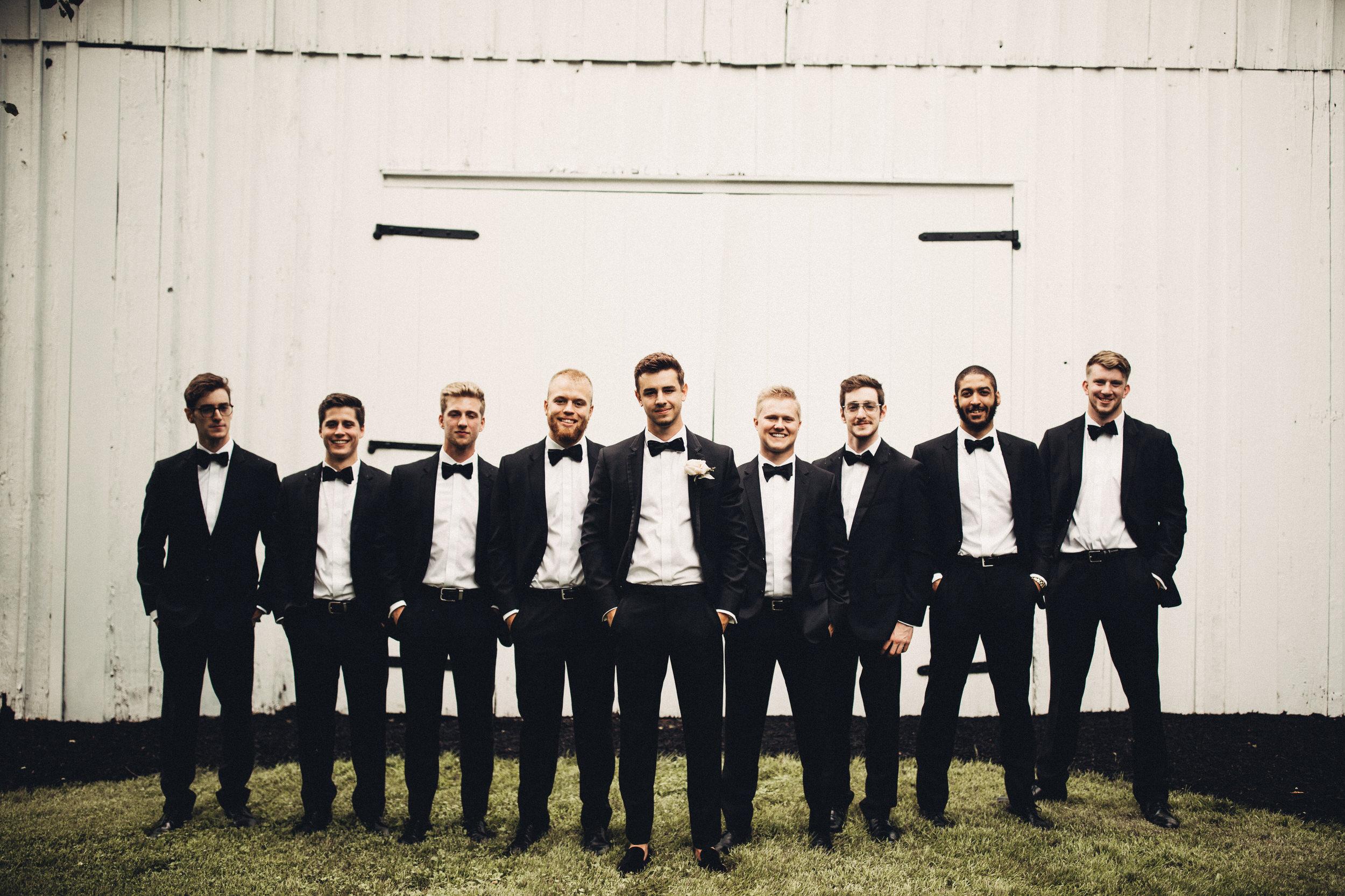 Groomsmen in Black Tuxedo