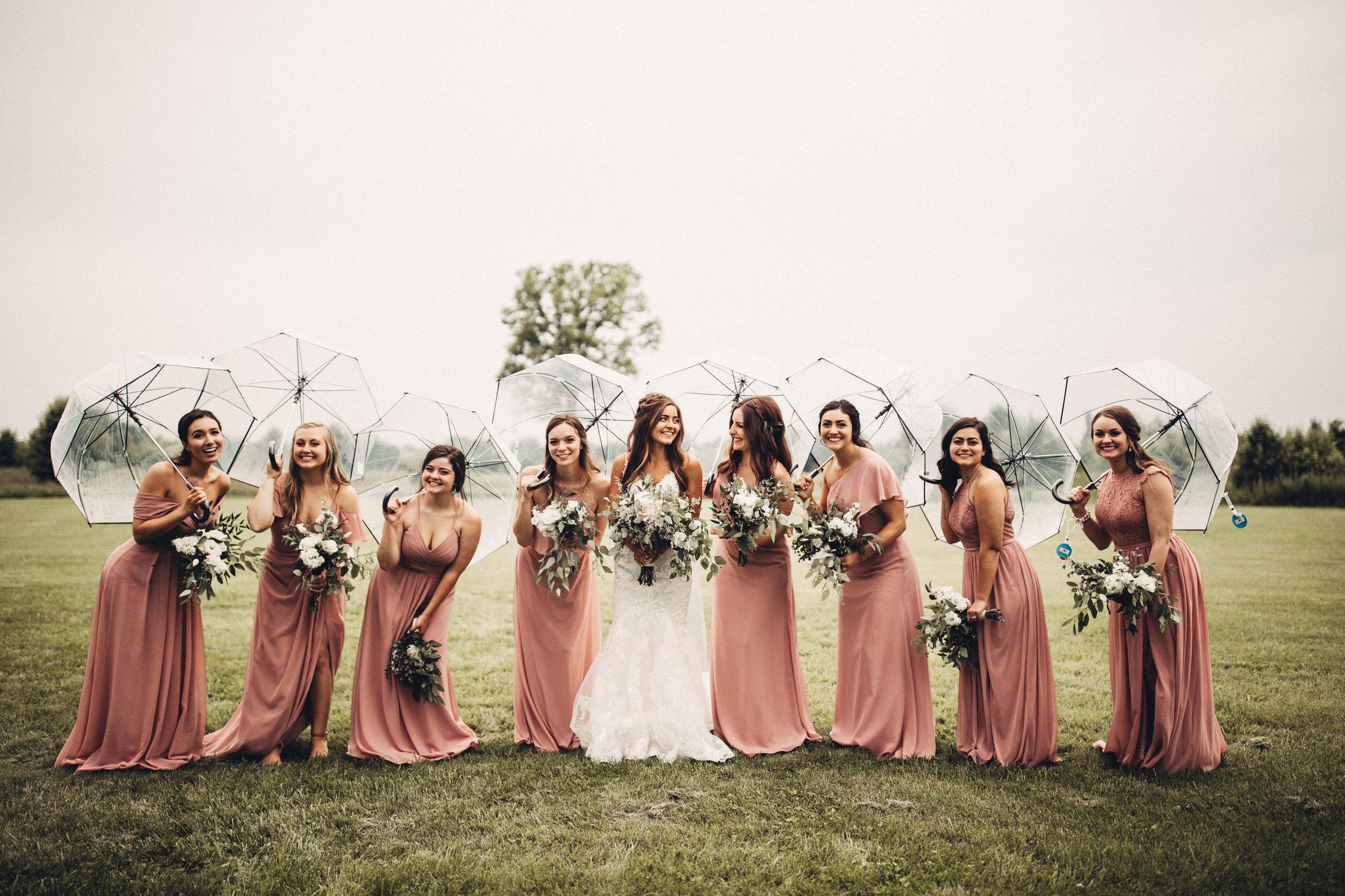 Clear Umbrellas Wedding