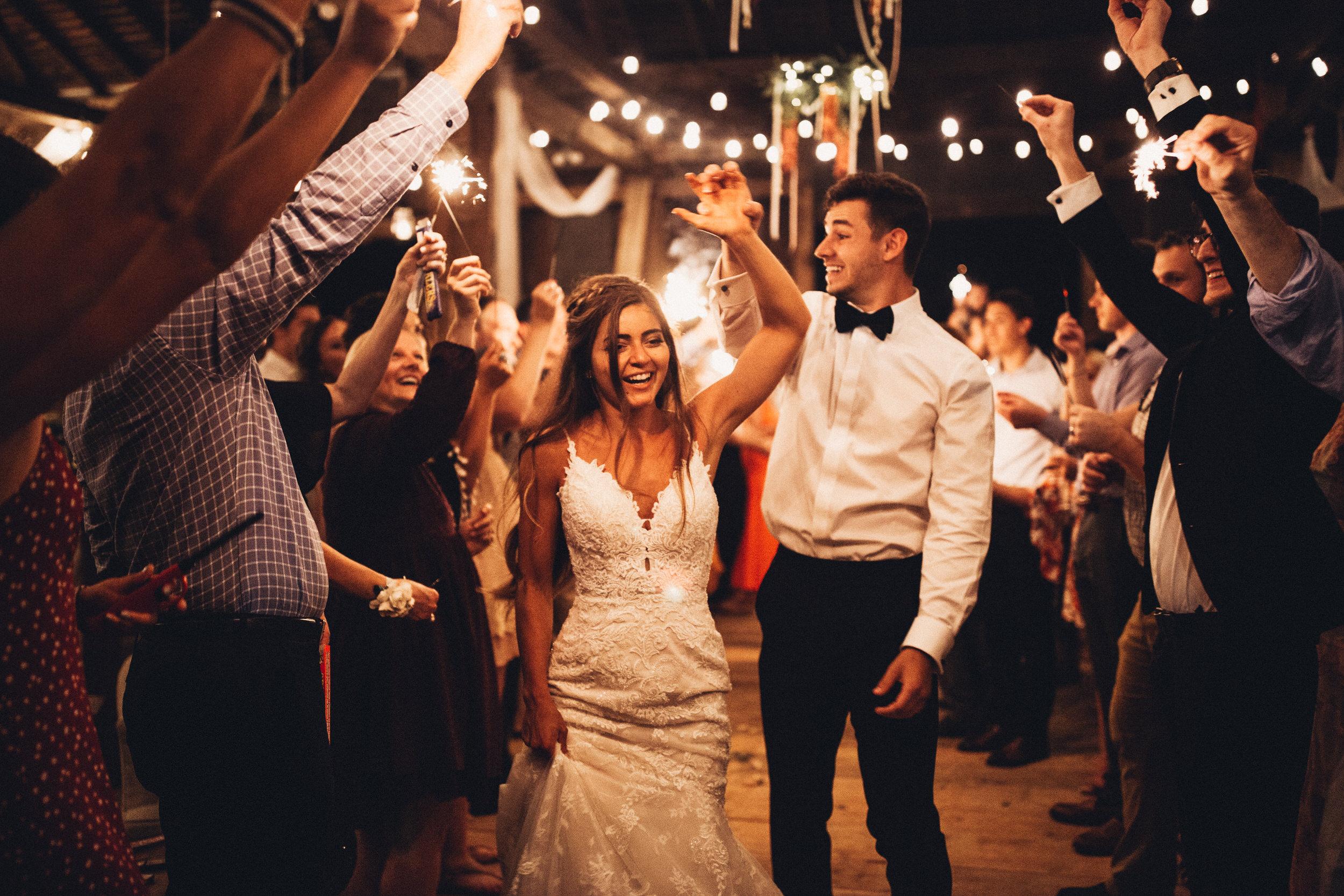 Wedding Sparkler Send-off