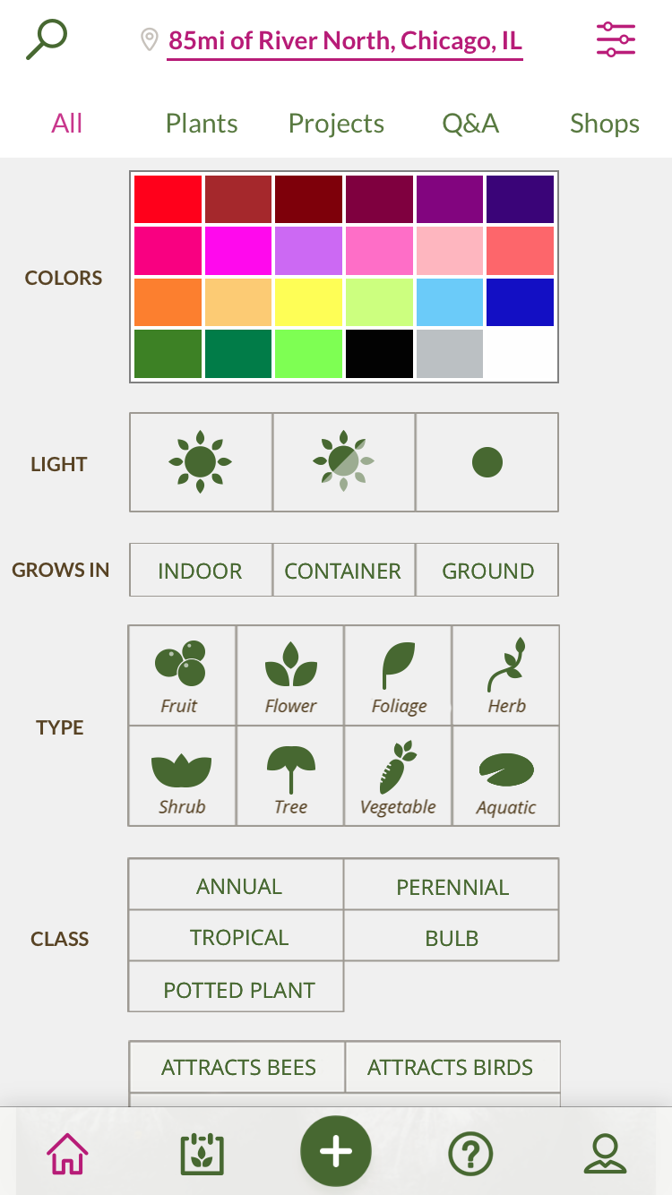 Find the perfect plant