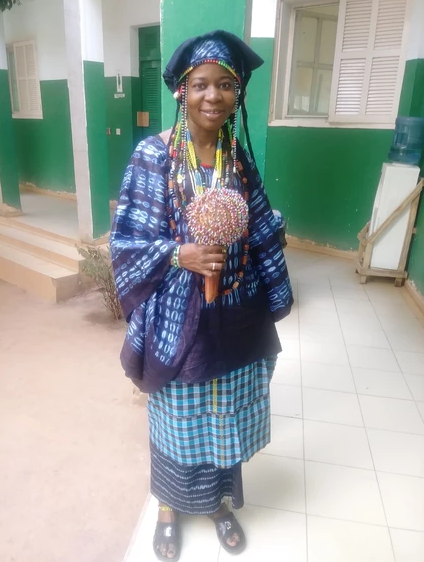 A MANDINKA NURSE.  One of the brightest and funniest nurse I have met. Every morning she comes to work dress in her tribe's traditional clothing. Then, all of a sudden you will see her transform into the Farafenni General Hospital uniforms and she is ready to work.