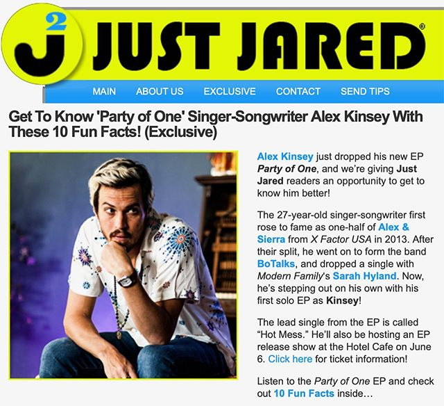 Only @justjared could get me to reveal these fun facts! Check it out! JustJared.com ☺️☺️ #exclusive #justjared #newmusicfriday #kinsey #kinseymusic #funfacts