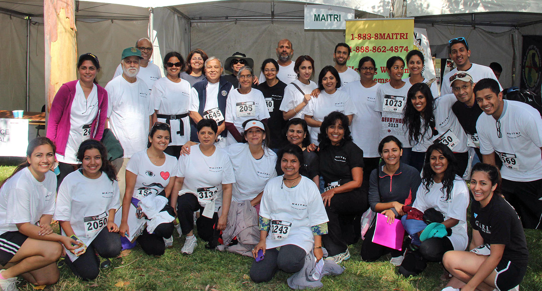 Maitri supporters at Sevathon 2013.