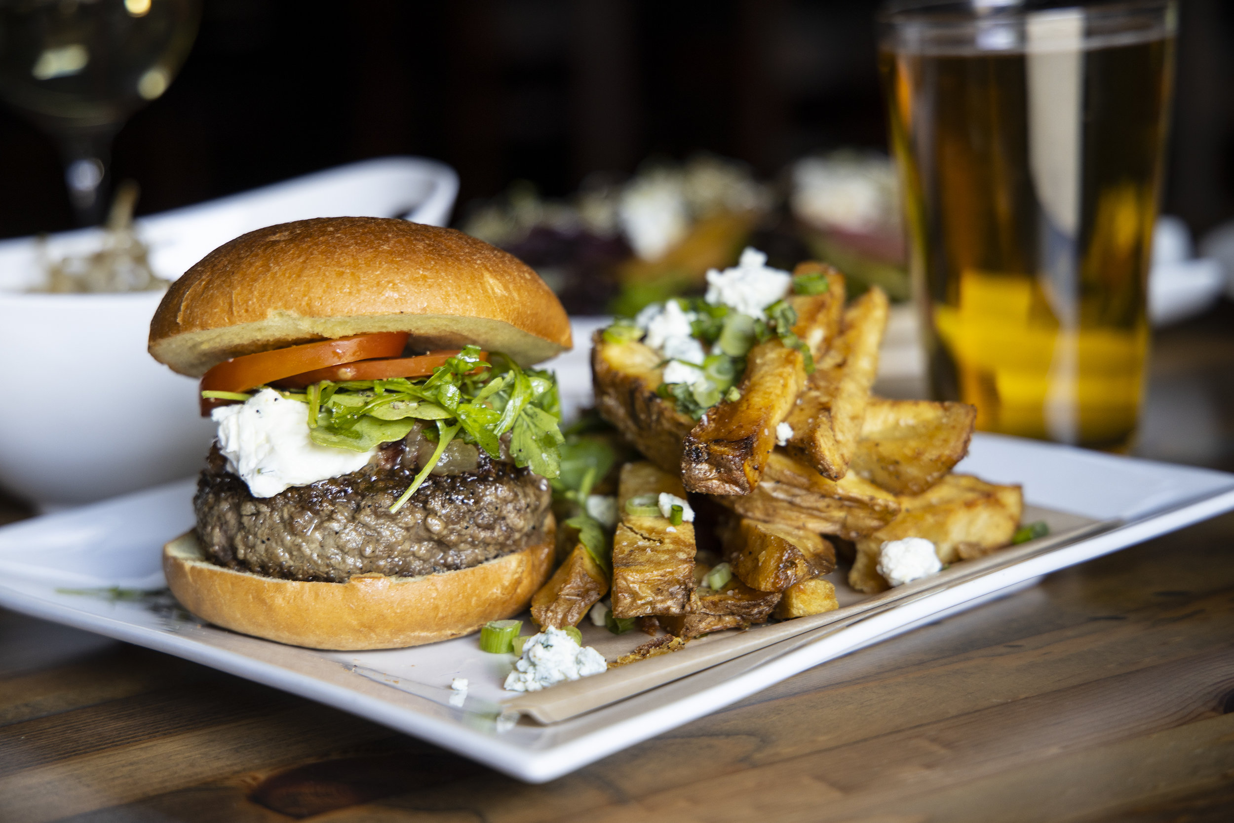 Our Signature Burger, Beer and Salads