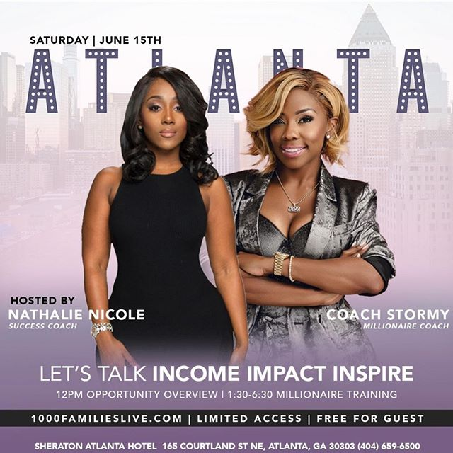 Learn exactly how you can be apart of the biggest movement to hit Atlanta.  Learn how she went from 0 to Millionaire in 7 months and 11 families came right behind her in 3 years & how @nathalienicole was able to pay over 50k in student loans and retire herself from the beauty industry to fuel her purpose.  DM ME I WANT IN to be my vip guest  #1000famalieslive