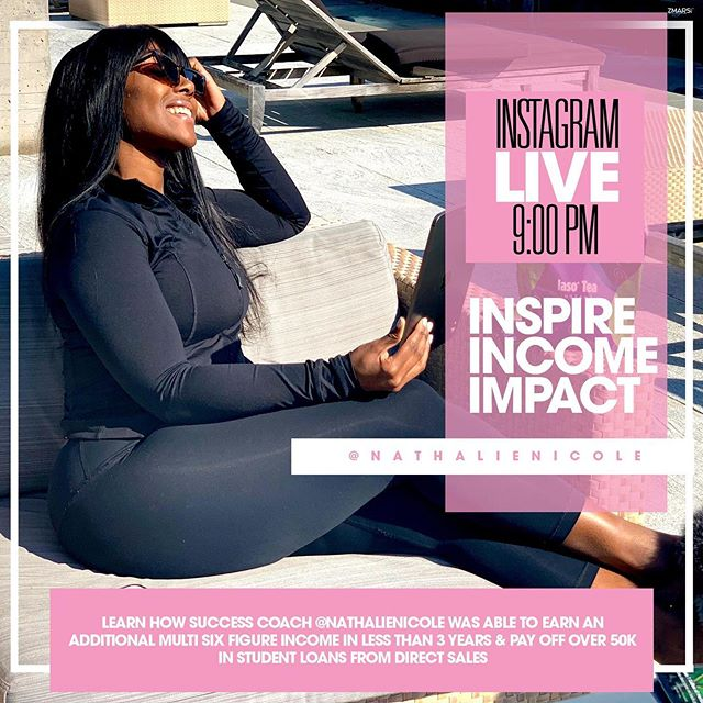 Learn how @nathalienicole paid off over 50k in student loan debt, retired herself from the beauty industry at 22 years old and now is living on purpose doing what she loves.  Tune in and be my vip guest. Dm me I'm ready to connect and collaborate