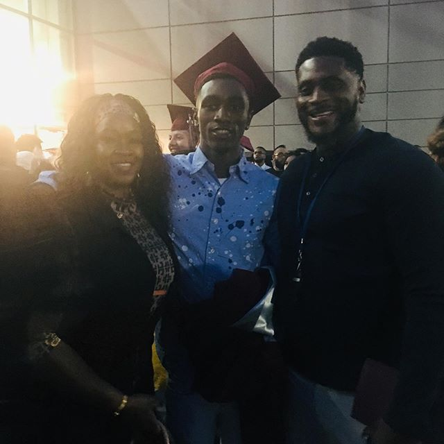 So proud of you son this is just another milestone I have officially got both my son's through high school that fight in me to see you win was the most hardest thing I had to do you didn't make it easy but I wasn't giving up on you this is just the beginning love you son my 2019 High school graduate