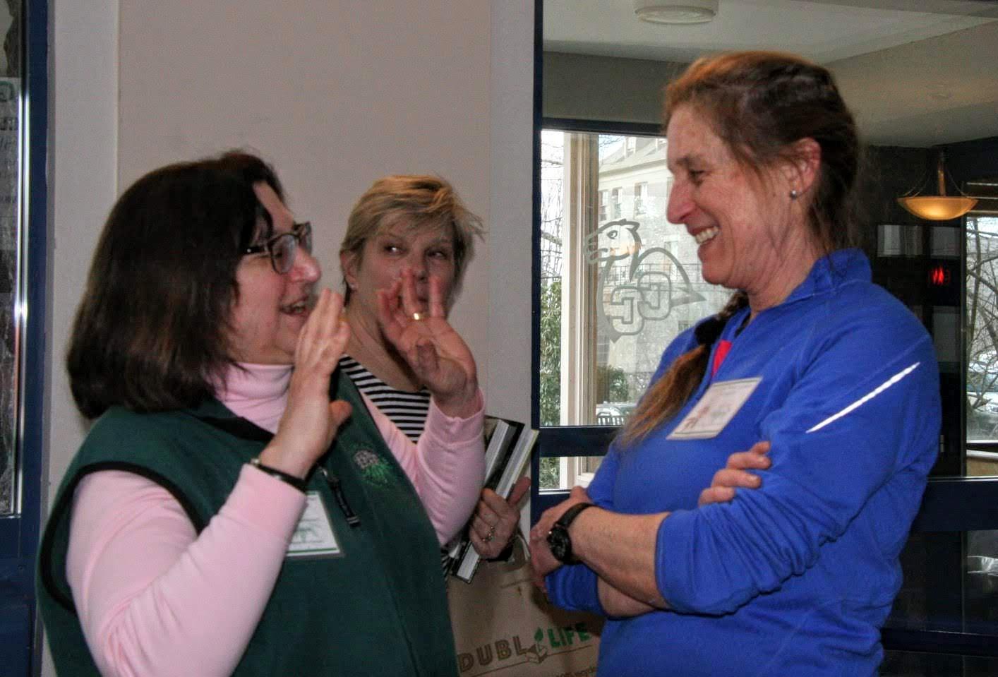 Theresa Hennessey (president & symposium chair) & Kim Kelly (Grants chair)