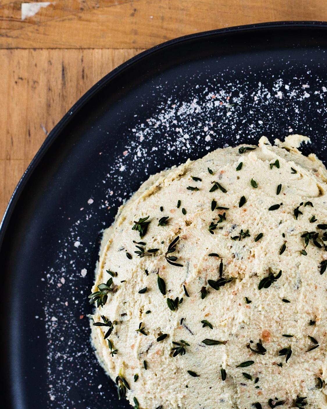 Rosemary Thyme Cashew Cheese