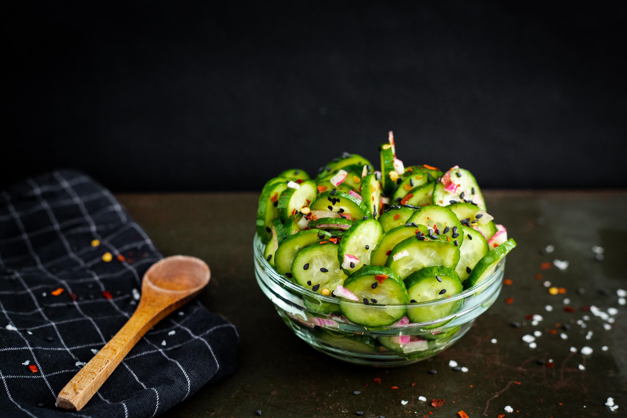 Quick Pickled Sesame Cucumber