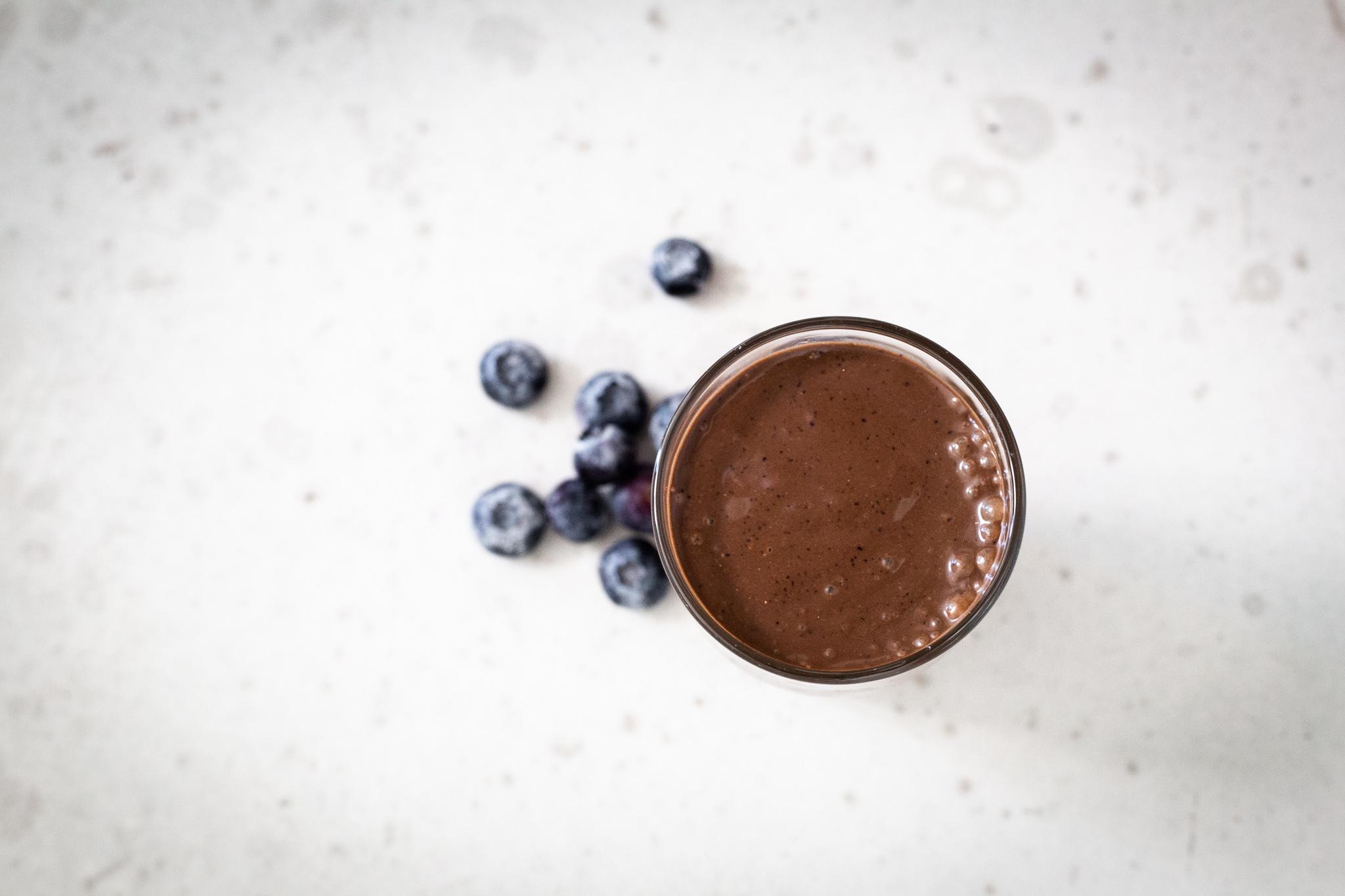 Chocolate Blueberry Smoothie