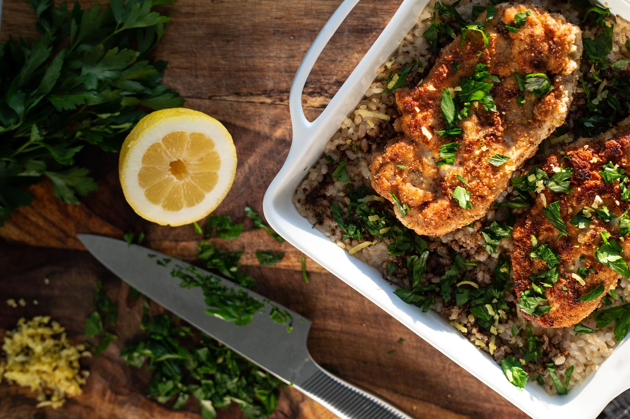 Gluten Free Lemon Fried Chicken__Healthy