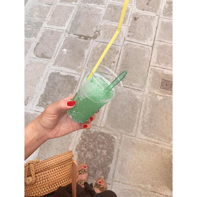 If you're ever in Venice and your body temperature is at overheating, get one of these mint slushes. It'll cool you right back to a regular hot temperature. #itssodamnhot
