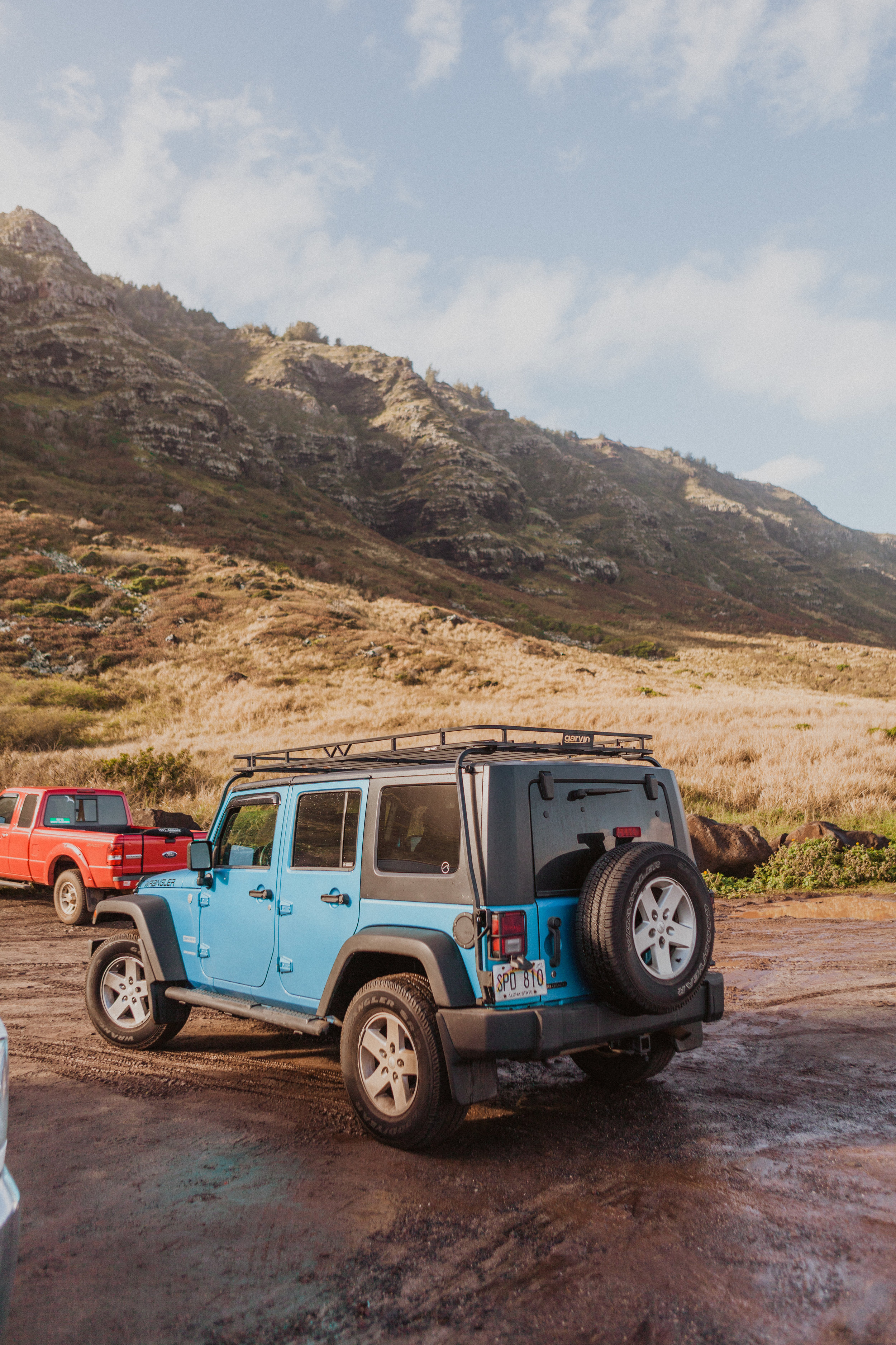 exploring in a jeep