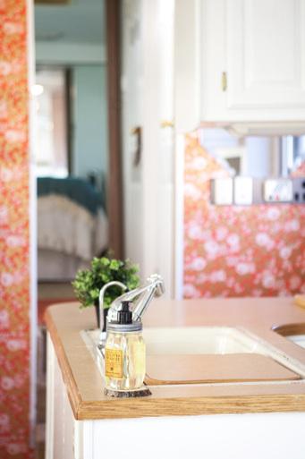 camper kitchen reno wallpaper