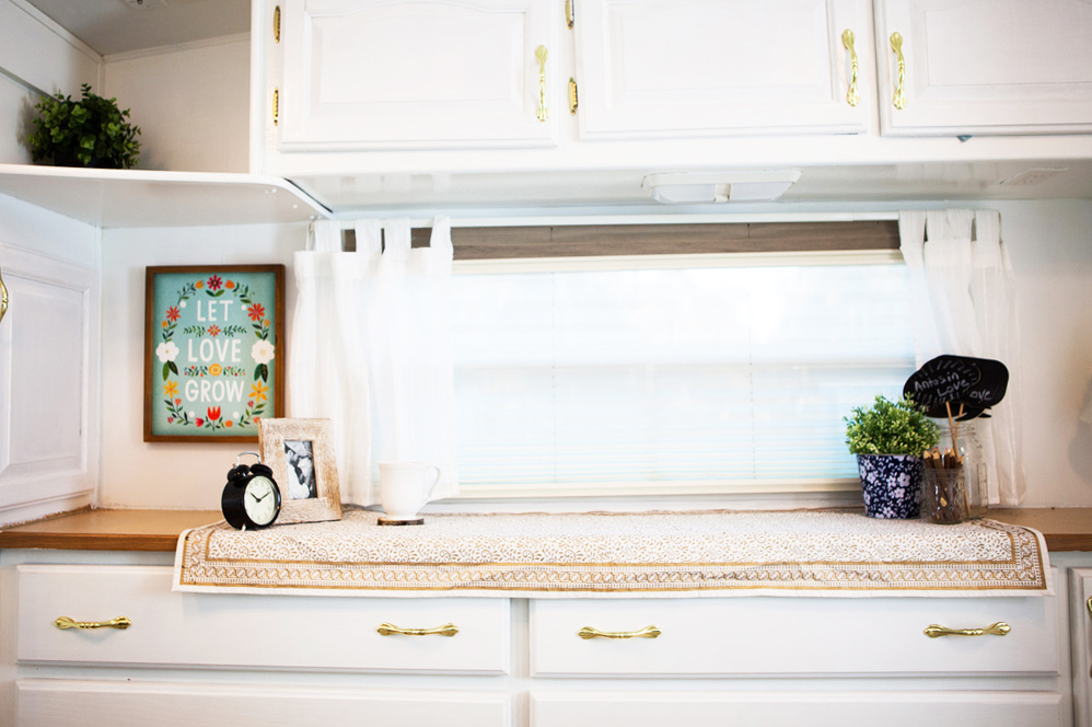 bedroom shelves redo camper
