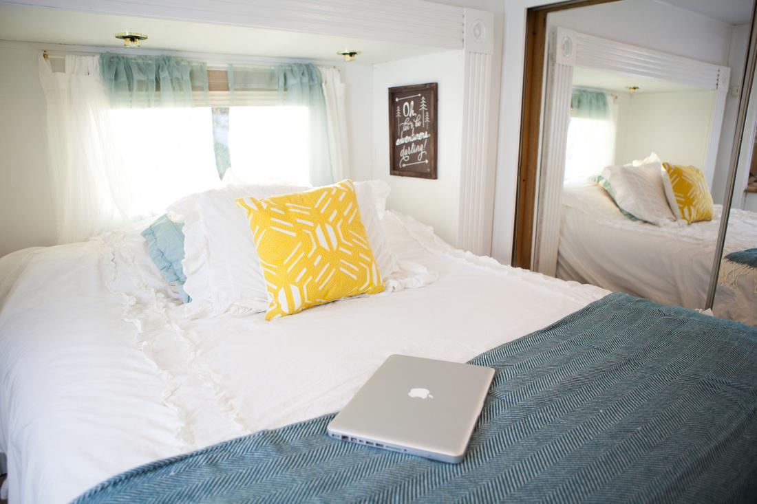 camper bedroom redo
