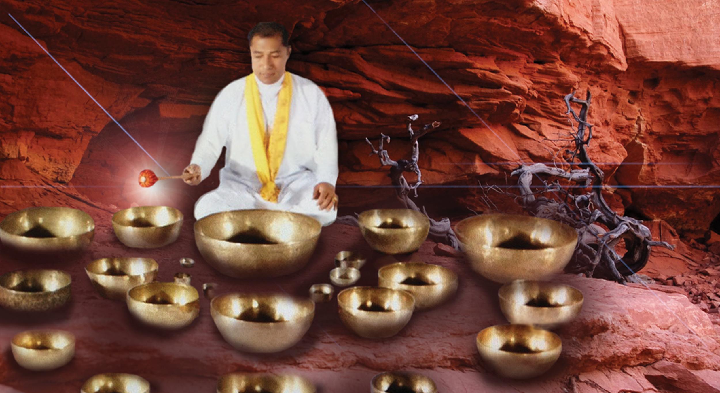 with Master Tibetan Sound HealerSuren Shrestra -