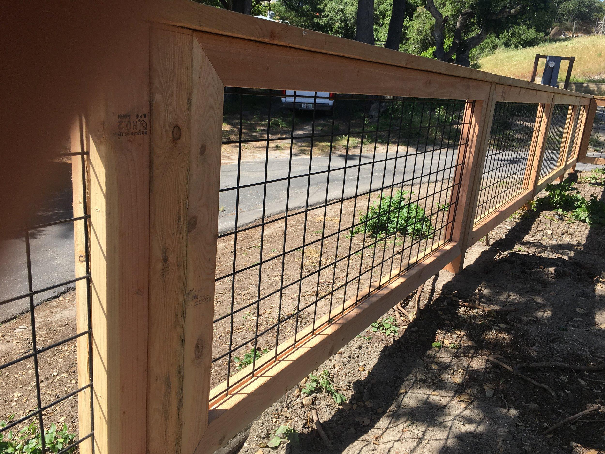 Hog Panel Wood Fence Bcma